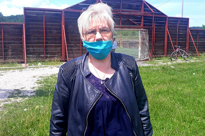 Драгица Жарковић — председница Месне заједнице у Грљану
