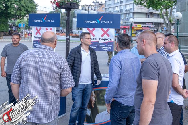 Vuk Jeremić u Zaječaru — Poseta u okviru kampanje bojkota parlamentarhnih izbora