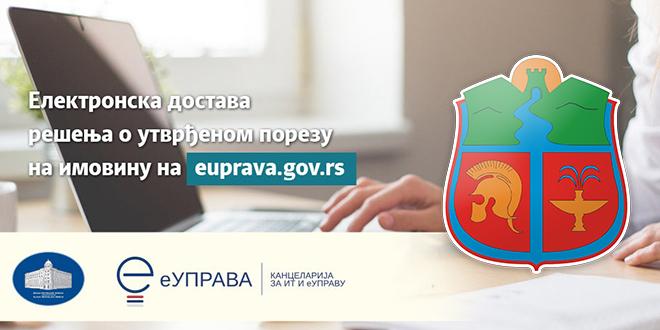 Grad Zaje,ar: Elektronska dostava rešenja o uvrđenom porezu na imovinu na Portalu eUprava