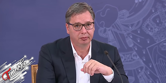Predsednik Republike Srbije Aleksandar Vučić — Policijski čas i nove mere — Beograd — COVID-19