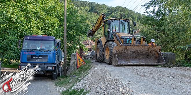Radovi na rekonstrukciji mosta na Belom Timoku u Vratarnici