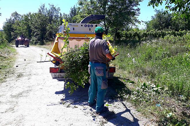 Radovi na uređenju puta Brusnik–Tabakovac