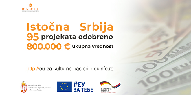 "Istočna Srbija: Konkurs ""EU za kulturno nasleđe i turizam"""