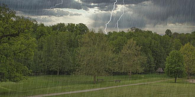 Kiša, pljusak, grmljavina