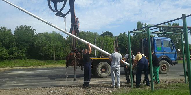 Радови на спортском терену у селу Лубница