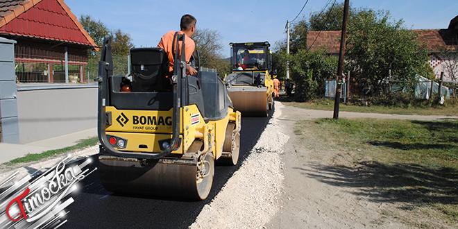 Asfaltiranje ulice Vuka Karadžića u Urovici