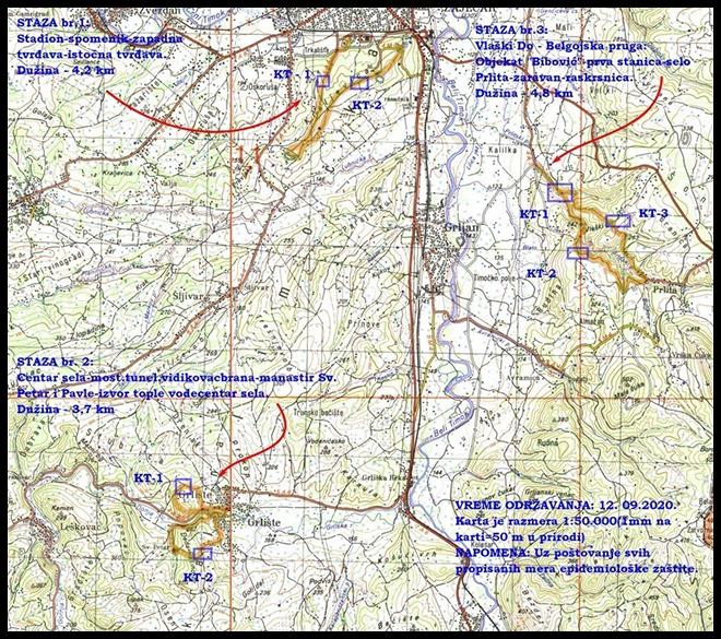 Dan pešačenja i šetnja za Kraljevicu u Zaječaru: Mapa šetnje