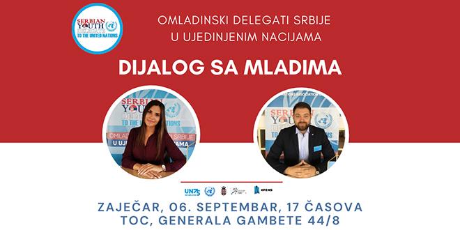 Omladinski delegati Srbije u UN: Dijalog sam mladima u Zaječaru