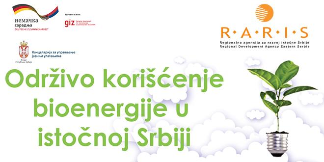 RARIS: Održivo korišćenje bioenergije u istočnoj Srbiji