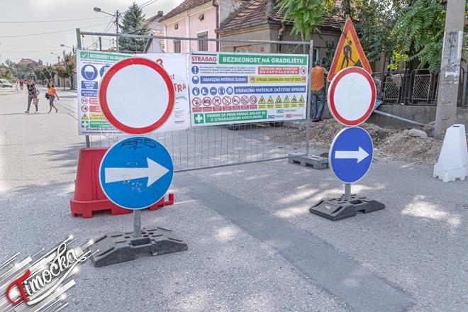 Radovi na rekonstrukciji Čupićeve ulice u Zaječaru