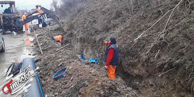 Popravka vodovodne mreže na Tupižničkom vodu