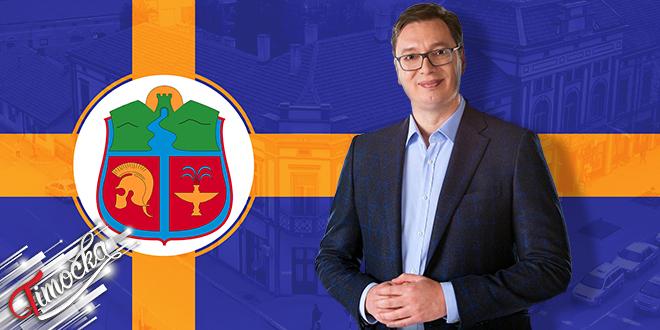 Predsednik Republike Srbije Aleksandar Vučić u poseti Zaječaru