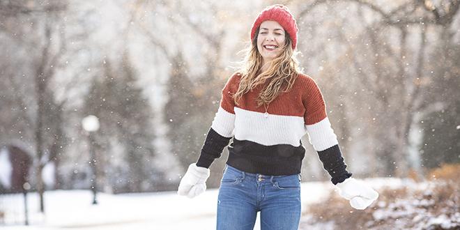 Sneg, devojka