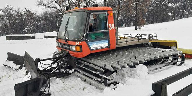 Završne pripreme na ski stazi u Zaječaru