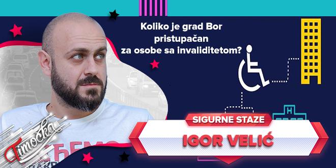 """Udruženje """"Sigurne staze"""": Koliko je grad Bor pristupačan za osobe sa invaliditetom?"""