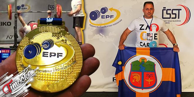 Zaječarac Saša Cvetković odbranio titulu prvaka Evrope u pauerliftingu